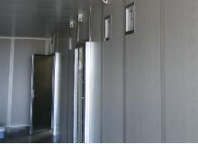 Container indrettet til generator.