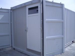 Mandskabscontainer med bad og toilet