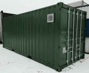 Lyddæmpet container